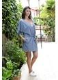 Hays Simply Penye Kadın Sabahlıklı Gecelik Takımı Mavi